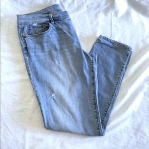 LOFT Relaxed Skinny Jeans Distressed Size 12/31